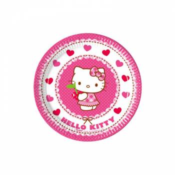 8 Assiettes dessert Hello Kitty