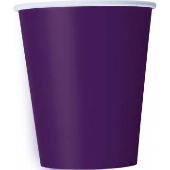 14 Gobelets carton violet foncé