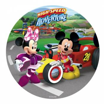 Disque sucre Mickey Minnie adventure 20cm