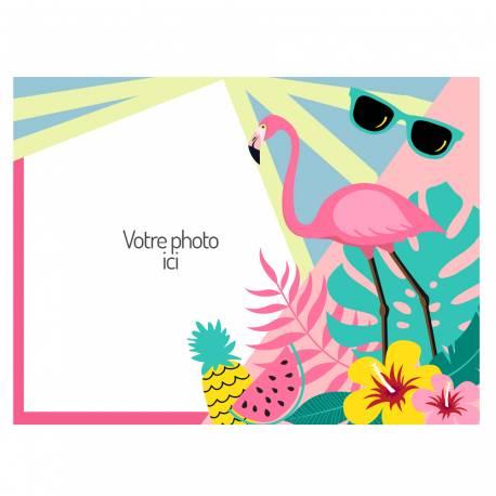 Feuille de sucre décor Flamingo Tropical au format A4 pour décorer vos gâteaux d'anniversaires rectangulaire.Taille A4 USA ( 21 cm x...
