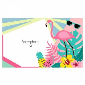 Décor sur sucre A3 Flamingo Tropical à personnaliser
