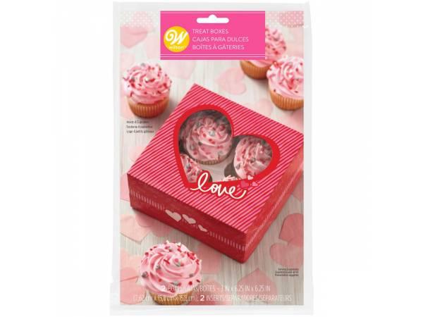 Boîtes gâteaux coeurs Wilton