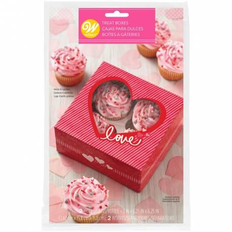 Cette boîte à cupcake Valentine de chez Wilton est parfaite pour emballer vos délicieux cupcakes, bonbons, biscuits et autres...