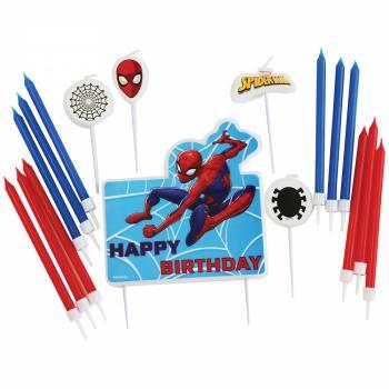 Assortiment 17 bougies Spiderman