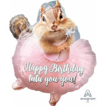 Ballon hélium birthday danseuse écureuil