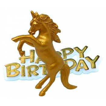 Licorne Happy Birthday or