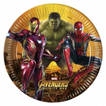 8 Assiettes Avengers infinity wars