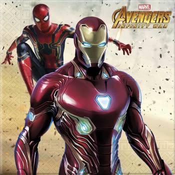 20 Serviettes Avengers infinity wars
