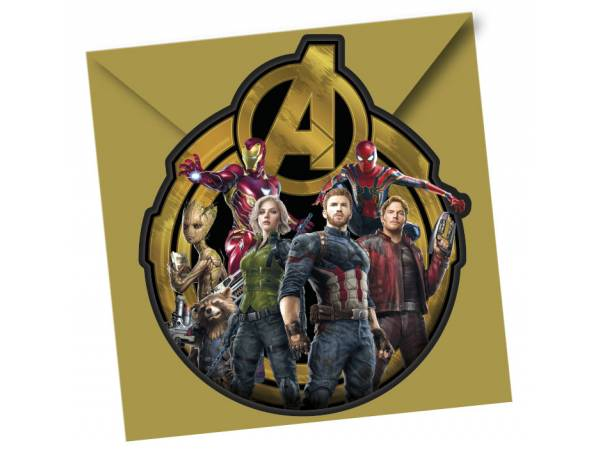 Cartes invitations Avengers infinity wars- deco anniversaire