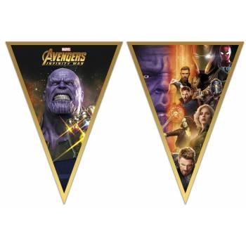 Guirlande 9 fanions Avengers infinity wars