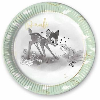 Assiettes Bambi avec Dorure- Deco Anniversaire.fr