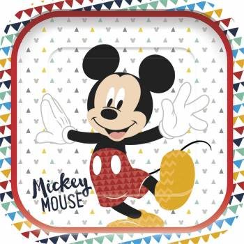 4 Assiettes carrée Mickey awesome