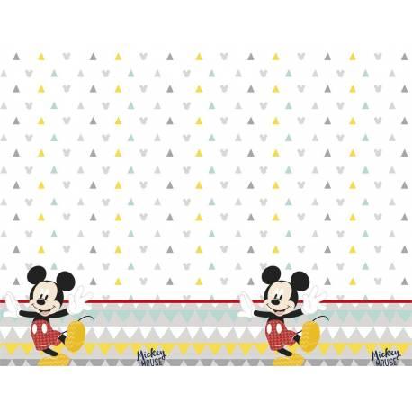 Nappe en plastiquepour une décoration de table thème Mickey awesome Dimensions : 180cm x 120cm