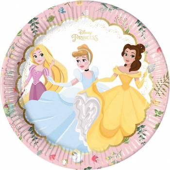 8 Assiettes Princesses Disney luxe