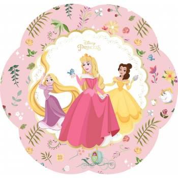 4 Assiettes fleurs Princesses Disney luxe