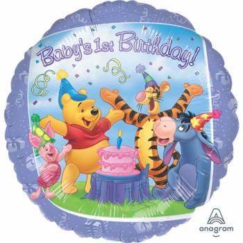 Ballon hélium baby birthday Winnie