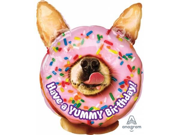 Ballon hélium chien donuts
