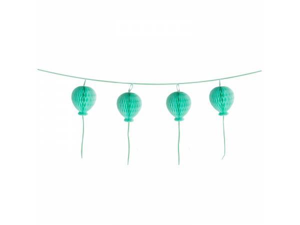 Guirlande en papier ballons pastel turquoise