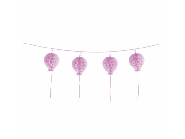 Guirlande en papier ballons pastel rose