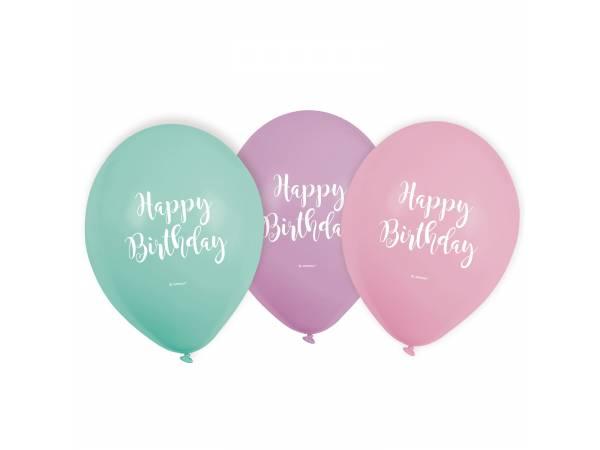 Ballons latex pastel Birthday