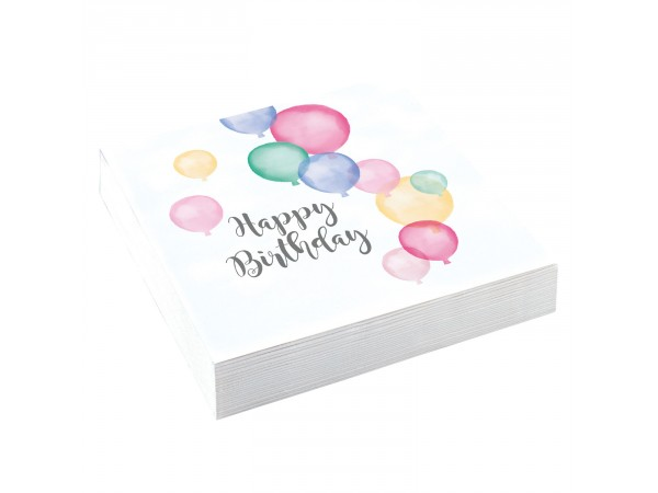 Serviettes papier Birthday Pastel