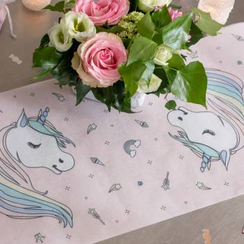 Chemin de table Licorne