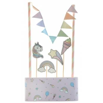 Kit cake topper Licorne