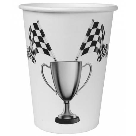 10Gobelets en carton pour un anniversaire sur le thème F1 Racing Car Dimensions: ø 7.8 x 9.7 cm