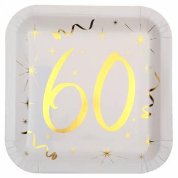10 Assiettes âge d'or 60 ans