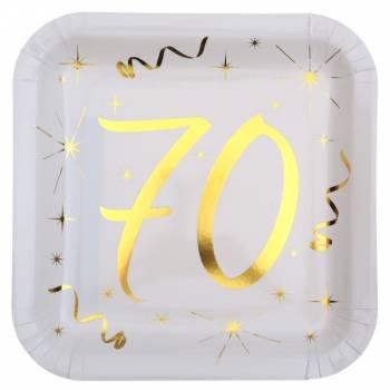 10 Assiettes âge d'or 70 ans