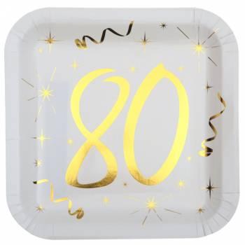 10 Assiettes âge d'or 80 ans