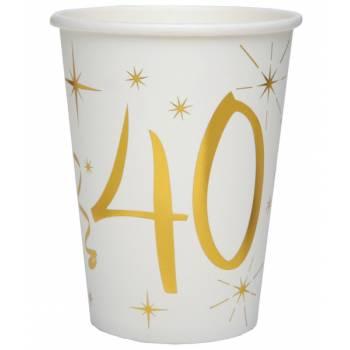 10 Gobelets âge d'or 40 ans
