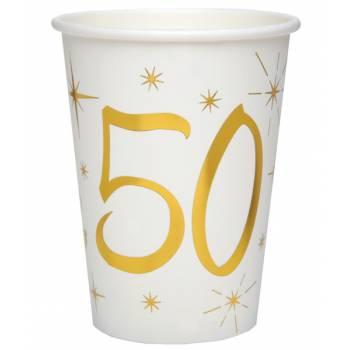 10 Gobelets âge d'or 50 ans