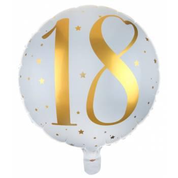 Ballons hélium âge d'or 18 ans