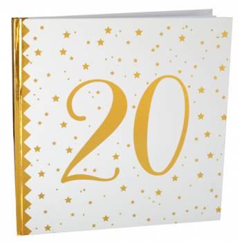 Livre d'or âge d'or 20 ans