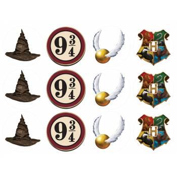 12 Mini décors sur sucre Harry Potter