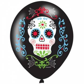 6 Ballons quadri Santa muerte