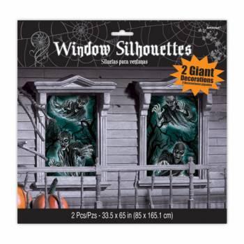 2 Décors pour vitres hantée