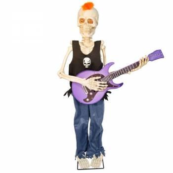 Squelette rock star animé 93cm