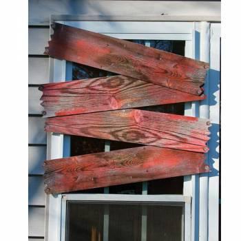 4 Planches de bois factice