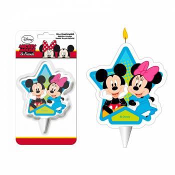 Bougie Mickey Minnie étoile 2D