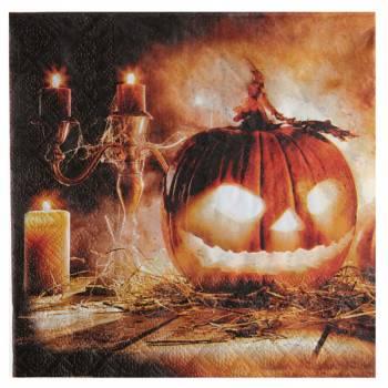 20 serviettes en papier halloween