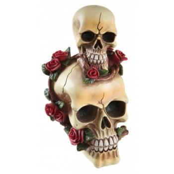 Figurines têtes de mort et roses