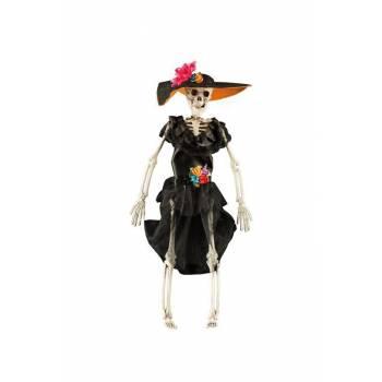 Squelette femme jour des mort