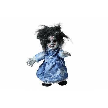 Poupée effrayante robe bleue