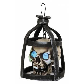 Crâne en cage yeux lumineux