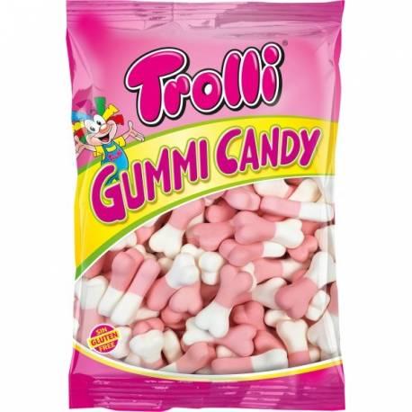 Les Gummi candy os sont des bonbons à la texture aérée, en forme d'os de la marque Trolli au parfum de FRAISE. Bicolore : blanc et...