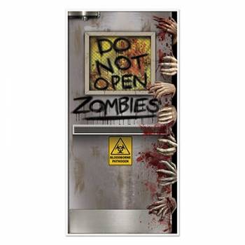 Décor de porte Do not open zombies