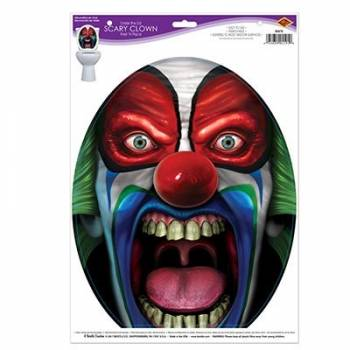 Autocollant cuvette toilette scary clown
