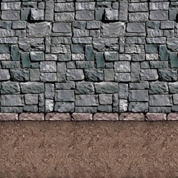 Toile d'ambiance géante mur de pierre